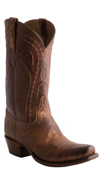 Lucchese Classics E2202 Mens Barnwood Burnished Smooth Ostrich Boots