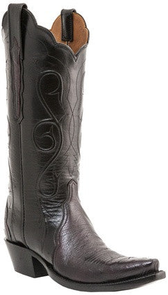 Lucchese Classics E2205 Womens Black Cherry Smooth Ostrich Boots