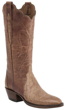 Lucchese Classics E2207 Womens Tan Burnished Mad Dog Smooth Ostrich Boots
