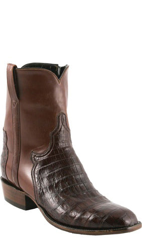 Lucchese Classics F5058 Mens Sienna Crocodile Belly Pony Matador Boots