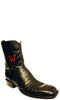 Lucchese Classics F6355.W8 Mens Black Ultra Belly Caiman Crocodile Boots Size 12 C STALL STOCK