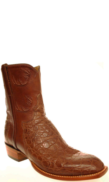 Lucchese Classics F6768.58 Mens Chocolate Giant Alligator Boots Size 9.5 EE STALL STOCK