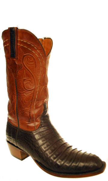Lucchese Classics G8811.53 Mens Brown Crocodile Boots Size 9 E STALL STOCK