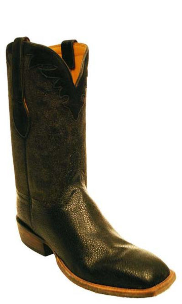 Lucchese Classics Black Shaved Stingray Cowboy Boots Mens 10.5 D