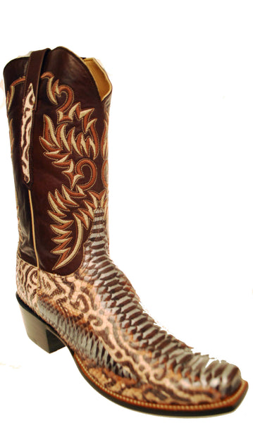 Lucchese Classics GC3065.74 Mens Natural Petro Python Boots Size 12.5 D STALL STOCK