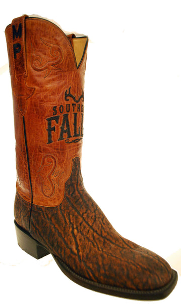 Lucchese Classics GC6915.W8 Mens Cognac Safari Elephant Boots Size 8 B STALL STOCK