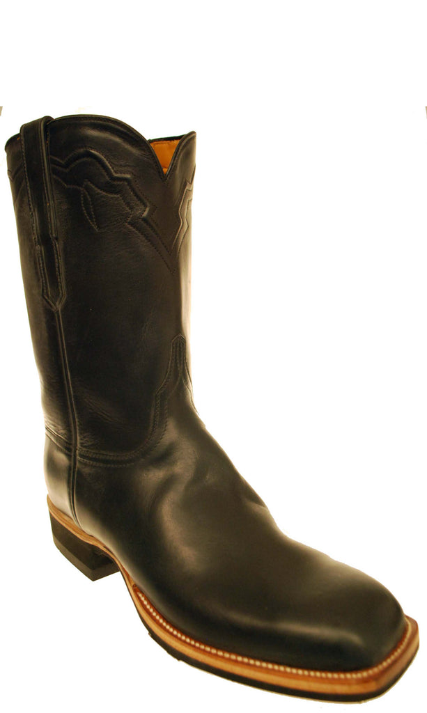 Lucchese Classics GC7222 Mens Black Oil Calfskin Boots Size 10.5 EE STALL STOCK