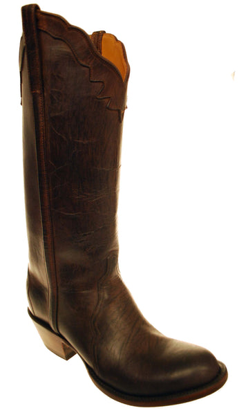 Lucchese Classics GC8213.S84 Womens Chocolate Mad Dog Goat Boots Size 8 B STALL STOCK