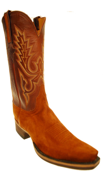 Lucchese Classics GC8291.S58 Mens Rust Brown Suede Boots Size 11 D STALL STOCK