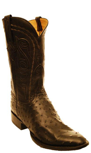 Lucchese Classics Black Full Quill Ostrich Mens Boots 11 D