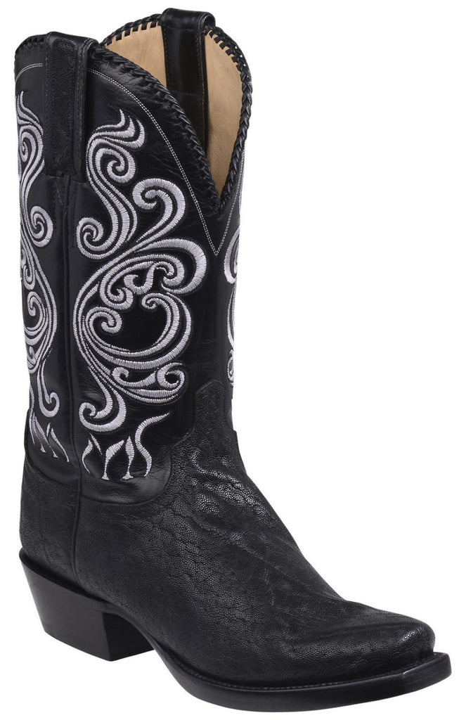 Lucchese GY1004.73 TERLINGUA Mens Black Elephant Boots