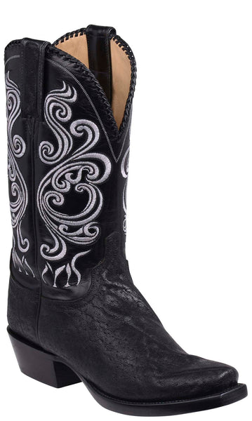 Lucchese TERLINGUA GY1004 Mens Black Elephant Boots