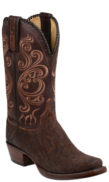 Lucchese TERLINGUA GY1005 Mens Cognac and Chocolate Elephant Boots