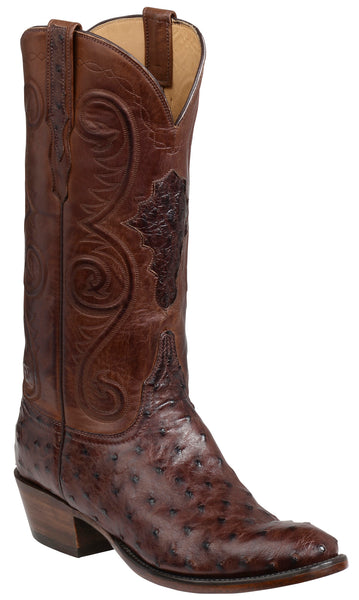 Lucchese Randall Mens Sienna Full Quill Ostrich Boots GY1008.63