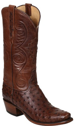 Lucchese Randall Mens Sienna Full Quill Ostrich Boots GY1008.73