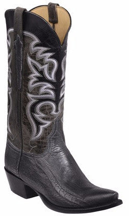 Lucchese GY1011.53 Dudley Graphite Grey Reversed Ostrich Leg Mens Boots