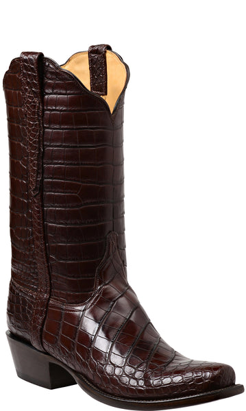 Lucchese BARON GY1012.73 Mens Chocolate American Alligator Boots