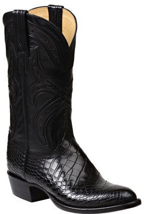 Lucchese GY1016 FORDE Mens Black Alligator Boots