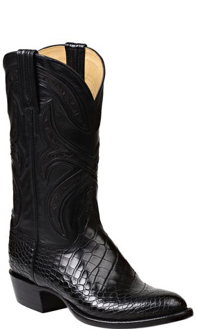 Lucchese FORDE GY1016 Mens Black Alligator Boots