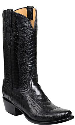 Lucchese Anderson GY1025.73 Mens Black Ostrich Leg Boots