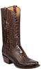 Lucchese ANDERSON GY1027 Mens Chocolate Burnished Ostrich Leg Boots