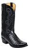 Lucchese Jones GY1028 Mens Black Ultra Belly Caiman Crocodile Boots