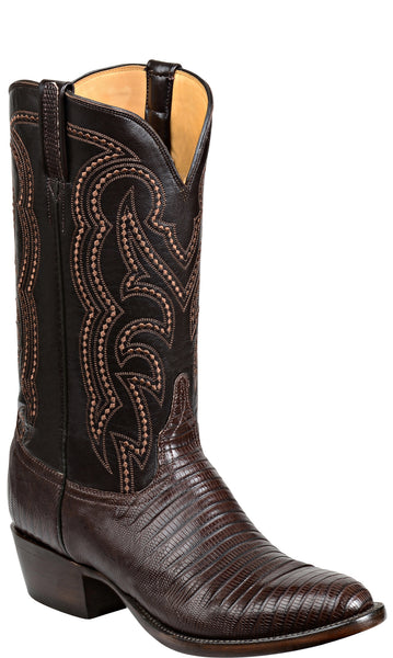 Lucchese Kip GY1035 Mens Cigar Brown Lizard Boots