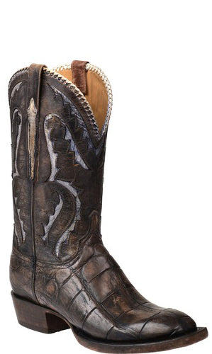 Lucchese DEREK GY1037 Mens Stonewash Tan Giant Alligator Boots