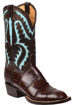 Lucchese GY1041 DEREK Mens Chocolate Giant Alligator Boots