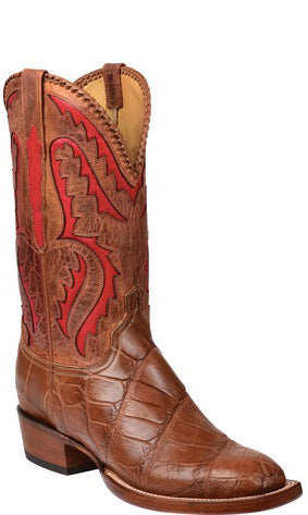 Lucchese Derek GY1042.S3 Mens Cognac Giant American Alligator Boots