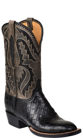 Lucchese Derek GY1043.S3 Mens Black Giant American Alligator Boots