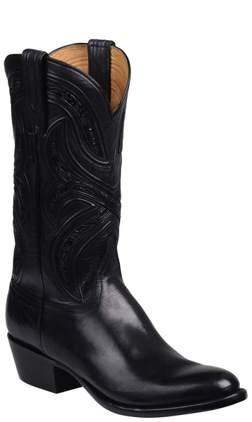 Lucchese Knox GY1500 Mens Black Royal Calfskin Boots