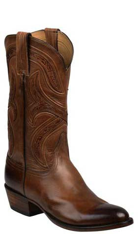 Lucchese Knox GY1501 Mens Dark Brown Royal Calfskin Boots