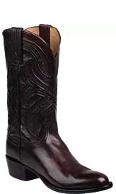 Lucchese KNOX GY1502.63 Mens Black Cherry Royal Calfskin Boots