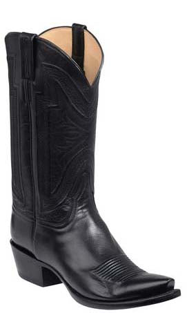 Lucchese Collins GY1503 Mens Black Baby Buffalo Boots