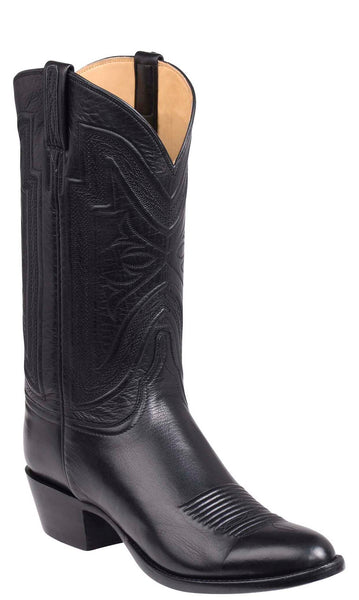 Lucchese Collins GY1503.63 Mens Black Baby Buffalo Boots