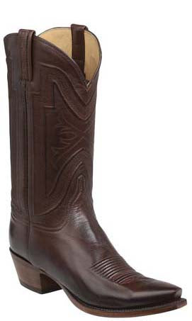 Lucchese Collins GY1504.53 Mens Whiskey Burnished Baby Buffalo Boots