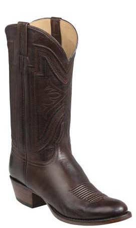 Lucchese Collins GY1504.63 Mens Whiskey Burnished Baby Buffalo Boots