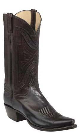 Lucchese Collins GY1505 Mens Chocolate Burnished Baby Buffalo Boots