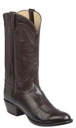 Lucchese Collins GY1505.63 Mens Chocolate Burnished Baby Buffalo Boots