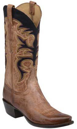 Lucchese Dawson GY1506.53 Tan Burnished Mad Dog Goat Mens Boots