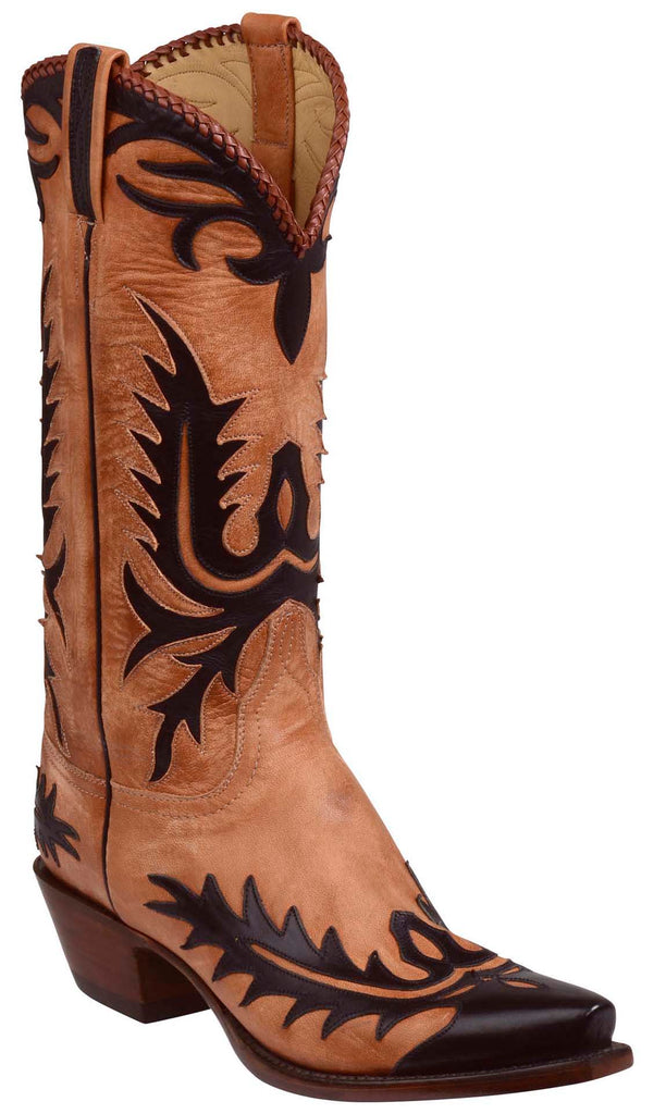 Lucchese PECK GY1510.54 Mens Destroyed Pearwood Tan Goat Boots