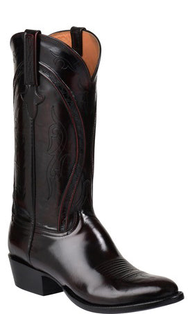Lucchese Gavin GY1519 Mens Black Cherry Goat Boots