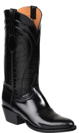 Lucchese Gavin GY1520 Mens Black Goat Boots