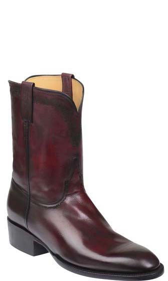 Lucchese GRANT GY1523 Mens Black Cherry Royal Calfskin Boots