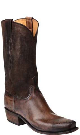 Lucchese Colby GY1526 Mens Stonewash Buck Oil Calfskin Boots