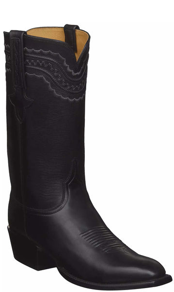 Lucchese Devin GY1534.13 Mens Black Ranch Hand Calfskin Boots