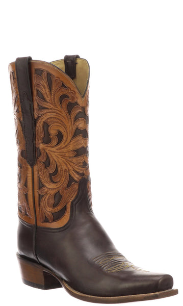Lucchese Axel GY1541.73 Mens Chocolate Ranch Hand Calfskin Boots