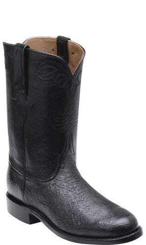 Lucchese Ward GY3000 Mens Black Smooth Ostrich Boots