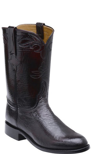 Lucchese Ward GY3001 Mens Black Cherry Smooth Ostrich Boots